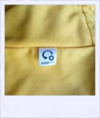 Boab Yellow short sleeve recumbent cycling jersey - label