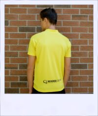 Boab Yellow - short sleeve cycle jersey - rear