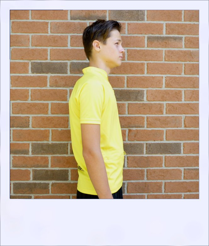 Boab Yellow - short sleeve cycle jersey - side