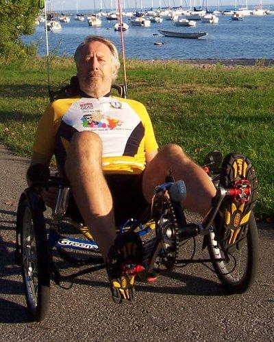 Blind Guy Biking jersey