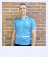 Blue Ash short sleeve cycle jersey - front