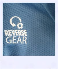 Blue Ash short sleeve recumbent cycling jersey - logo