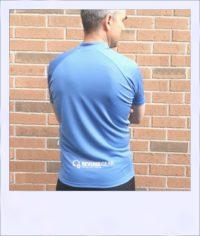 Blue Ash short sleeve cycle jersey - rear