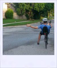 Blue Ash short sleeve cycle jersey - rear signal