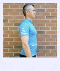 Blue Ash short sleeve cycle jersey - side