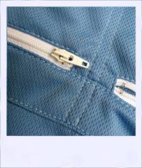 Blue Ash short sleeve recumbent cycling jersey - zips