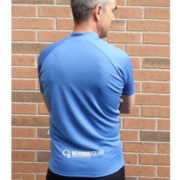 Blue Ash recumbent jersey from behind