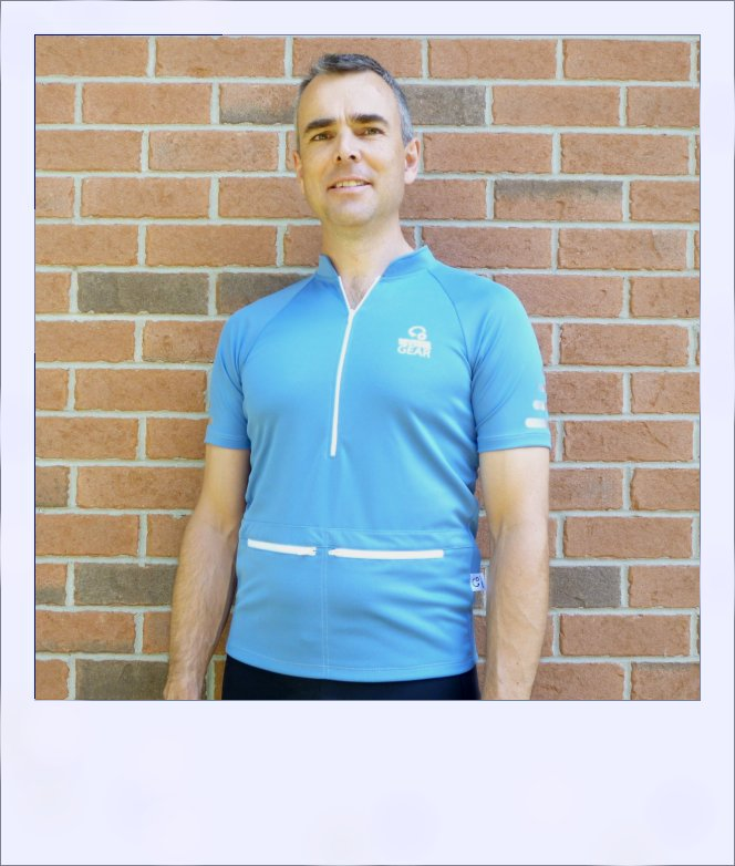 Blue Ash recumbent jersey - front medium