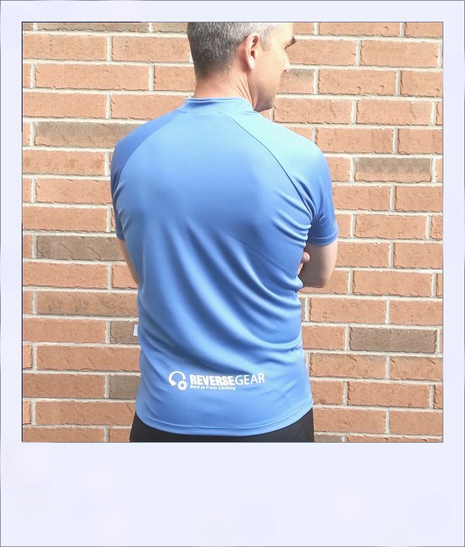 Blue Ash recumbent jersey - rear large