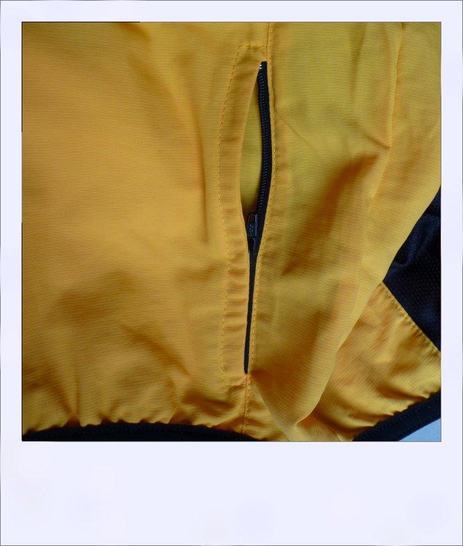 Breeze sleeveless recumbent cycle vest - Yellow female - pocket
