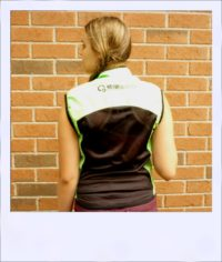 Breeze sleeveless cycle vest - Green female - rear