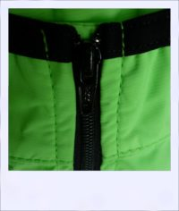 Breeze sleeveless recumbent cycle vest - Green female - zip