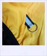 Breeze sleeveless recumbent cycle vest - Yellow male - ring