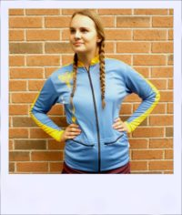 Phoenix long sleeve recumbent cycle jersey - female - front