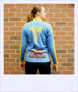 Phoenix long sleeve recumbent cycle jersey - female - rear