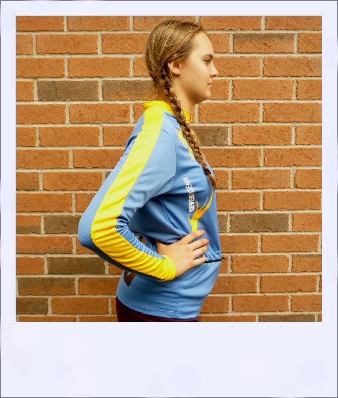 Phoenix long sleeve recumbent cycle jersey - female - side