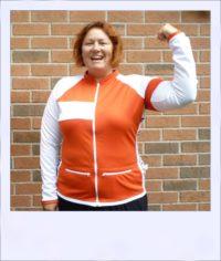Red Maple long sleeve recumbent women's jersey - front alt