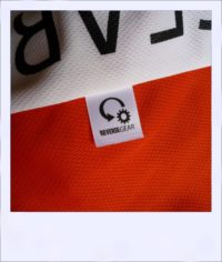 Red Maple long sleeve recumbent women's jersey - label close-up