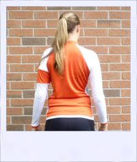 Red Maple long sleeve recumbent women's jersey - rear