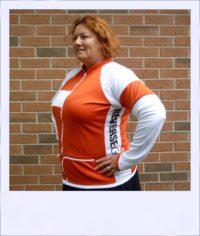 Red Maple long sleeve recumbent women's jersey - side alt