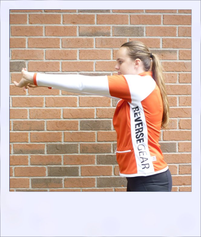 Red Maple long sleeve recumbent women's jersey - side
