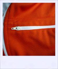 Red Maple long sleeve recumbent women's jersey - zip close-up