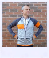 Silver Maple long sleeve recumbent men's jersey - top layer