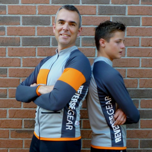 Silver Maple men's recumbent jersey - more twins