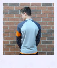 Silver Maple long sleeve recumbent men's jersey - rear