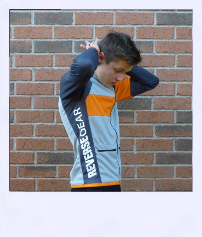 Silver Maple long sleeve recumbent men's jersey - side