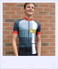 Tupelo short sleeve recumbent men's race jersey - front