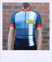 Tupelo short sleeve recumbent men's race jersey - front medium
