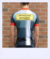 Tupelo short sleeve recumbent men's race jersey - rear