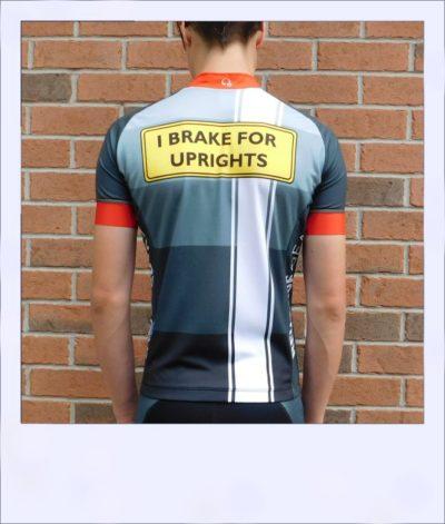Tupelo short sleeve recumbent men's race jersey - rear
