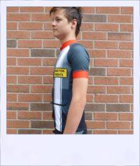 Tupelo short sleeve recumbent men's race jersey - side