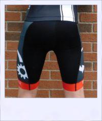 Tupelo recumbent men's race shorts - rear