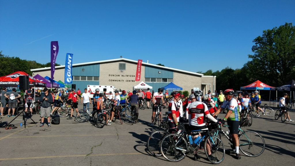 Cambridge Tour de Grand - community centre pic