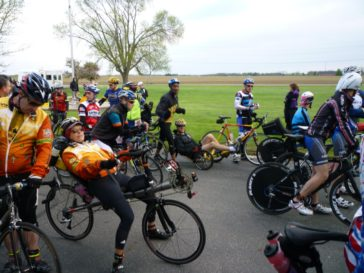 At the start line - recumbent racing